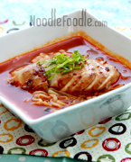 Roasted Chicken Champong Noodle Soup