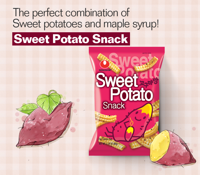 Sweet snack made of Korean sweet potato! SWEET POTATO SNACK