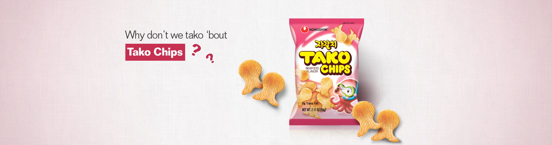 Shaped like Octopus and taste like Octopus! Tako Chips