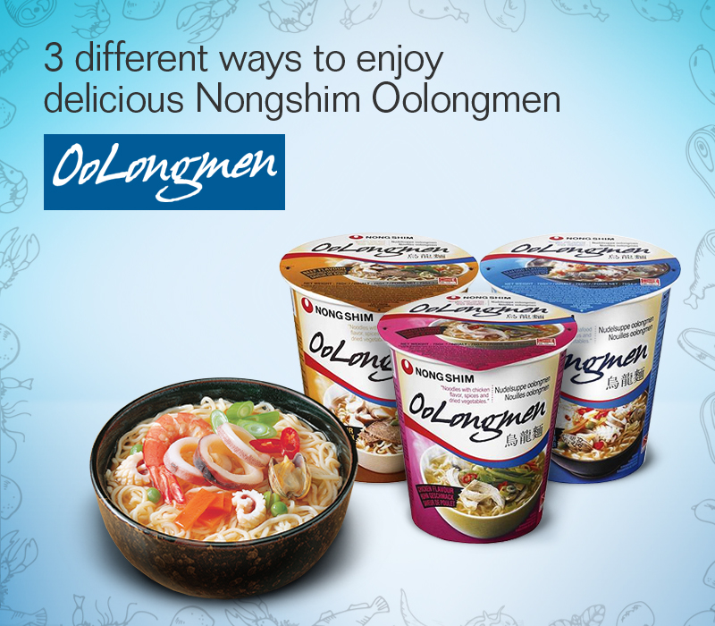 3 different ways to enjoy delicious Nongshim