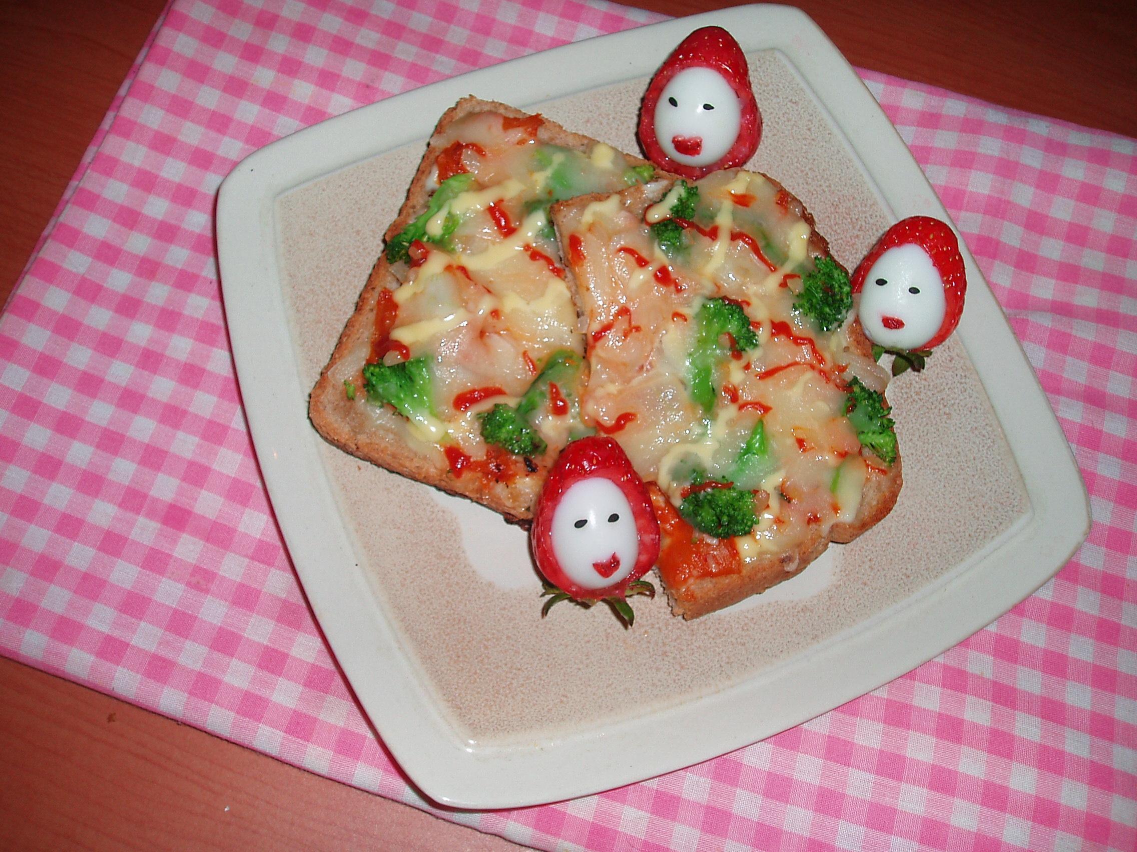 김치 식빵 피자...
